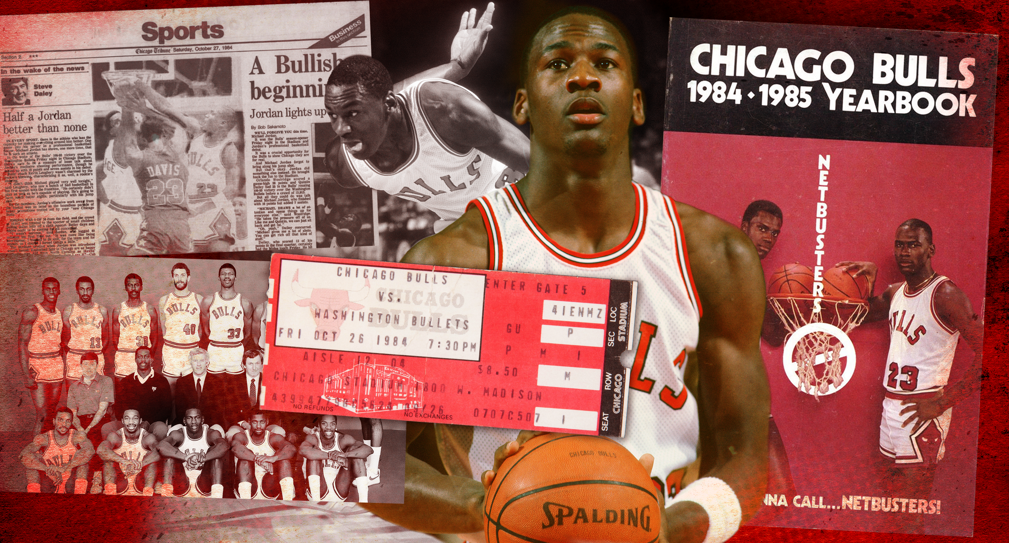 The brilliant disappointment of Michael Jordan's first game