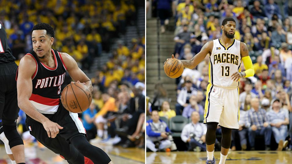 C.J. McCollum openly, actively recruiting Paul George to join Trail Blazers