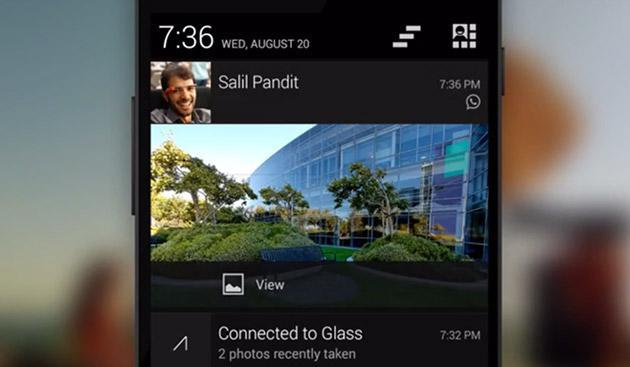 Google Glass can now display all your phone notifications