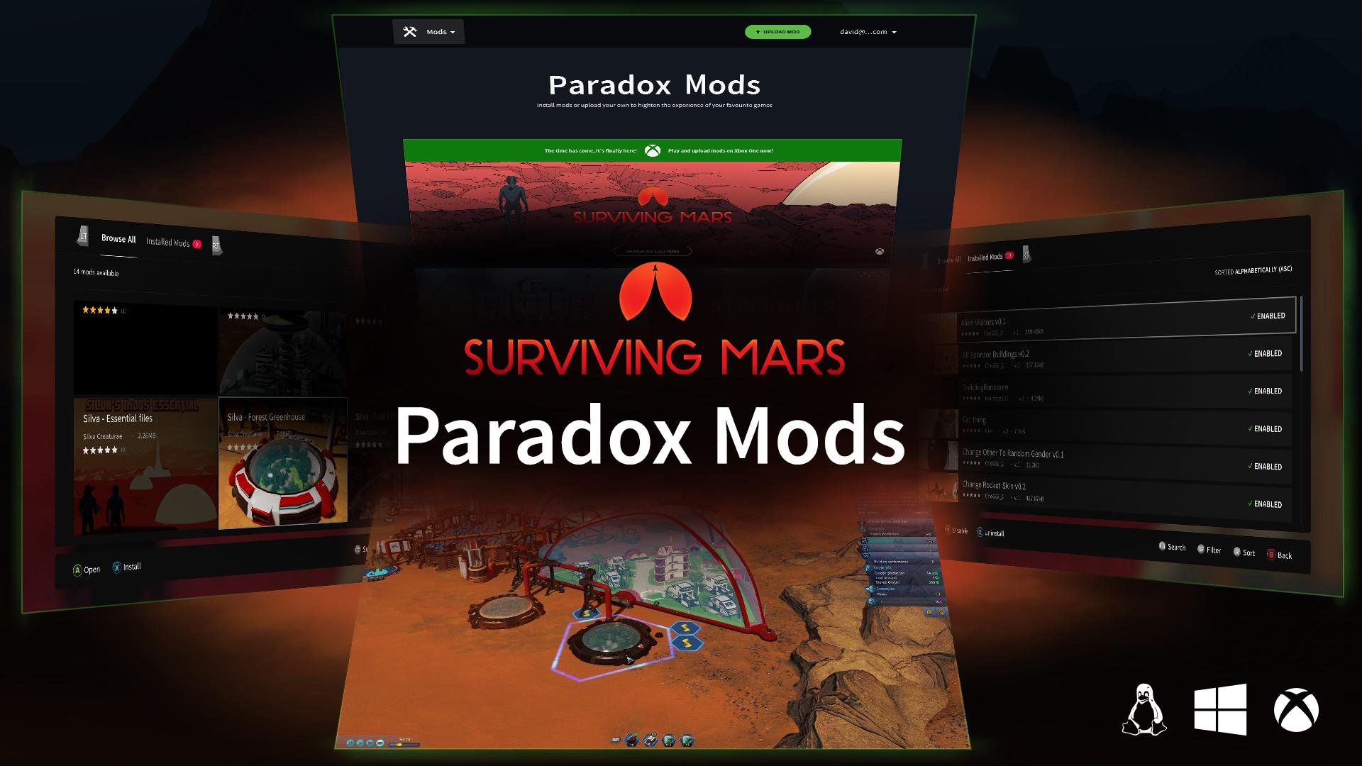 Surviving Mars' debuts Xbox and PC mod platform Paradox Mods
