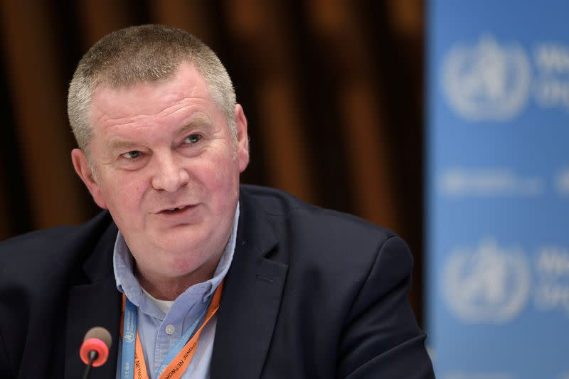 WHO Health Emergencies Programme head Michael Ryan attends a news conference in Geneva