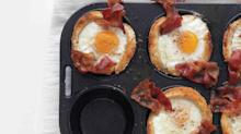 Bacon, Egg, and Toast Cups You Can Makein a Muffin Pan