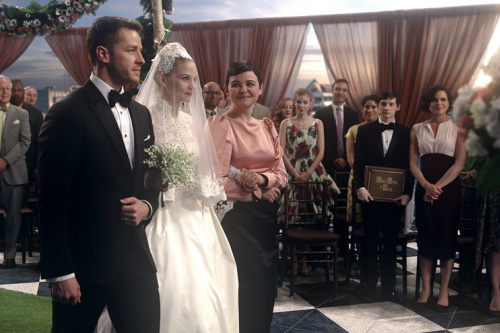 Josh Dallas, Jennifer Morrison and Ginnifer Goodwin in ABC's Once Upon a Time.