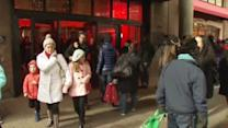Shoppers flock to stores on the Saturday before Christmas