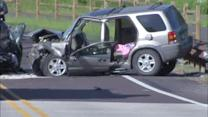 4 injured in head-on crash along Route 202