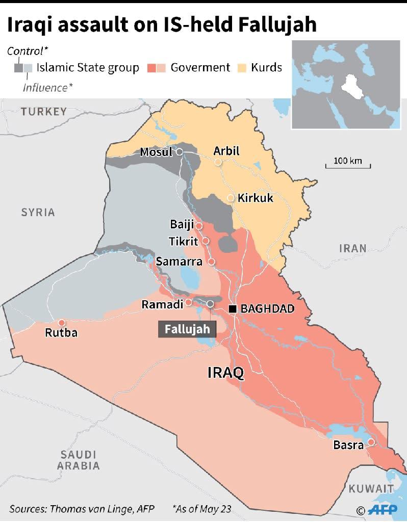 Iraqi army assault on IS-held Fallujah (AFP Photo/Jean Michel CORNU, Simon MALFATTO)