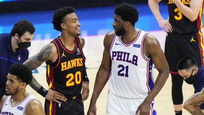 Hawks player trolls Embiid with epic shirt