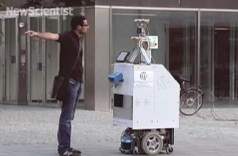 ACE robot asks for directions, purpose in life