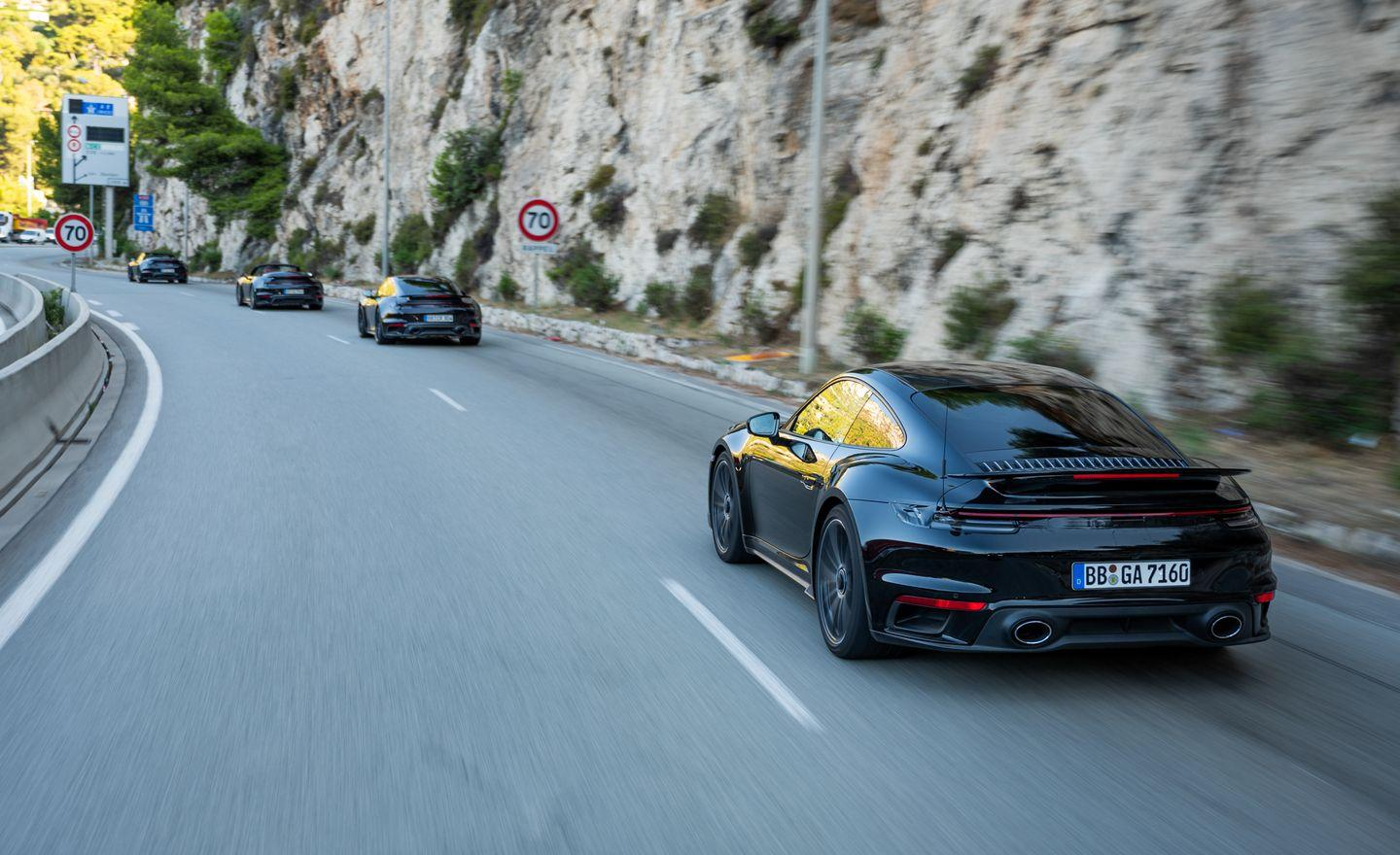 <p>Though it's claimed to be 110 pounds heavier, the 992-gen 911 Turbo S doesn't compromise comfort or performance. </p>
