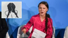 'Desperate': Greta Thunberg hits out at 'disgusting' sticker