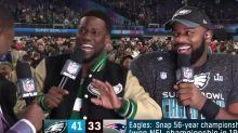 Hart drops live TV F-bomb after Eagles win