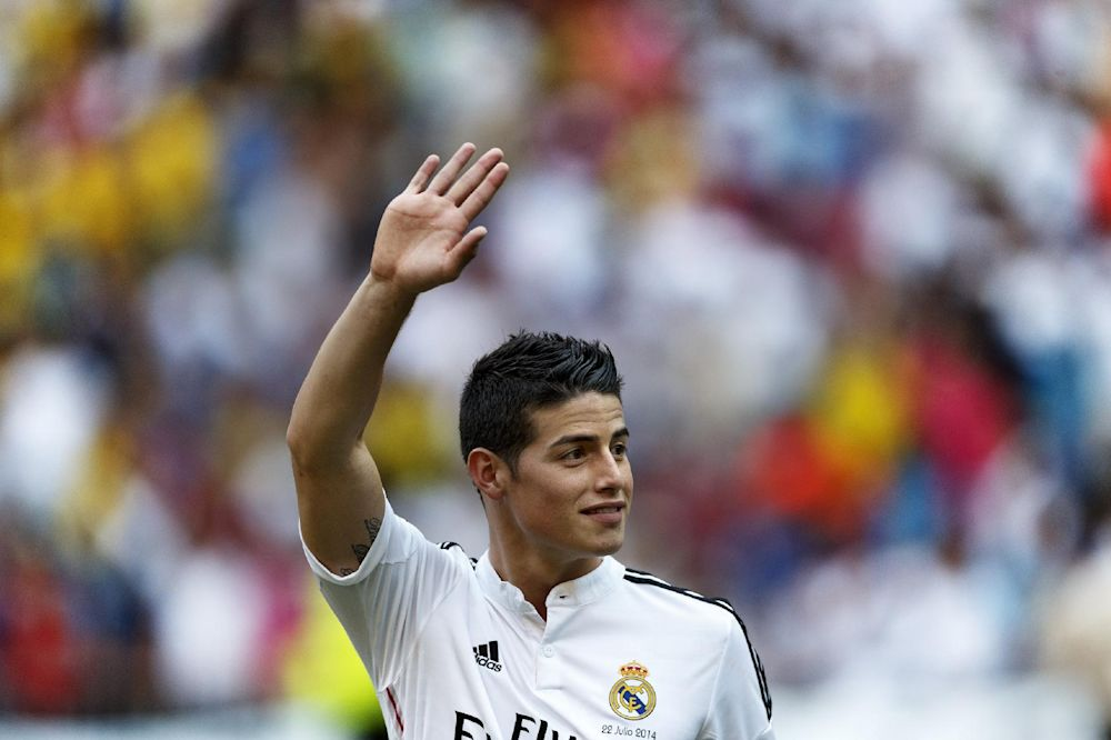 Rodriguez to make Real Madrid debut in Super Cup