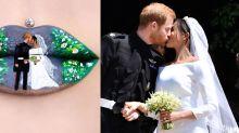Royal Lip Art: Make-up-Künstlerin verewigt Meghans und Harrys Kuss