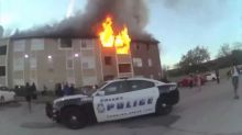 A Dallas man saves a baby from a burning building by catching her in midair
