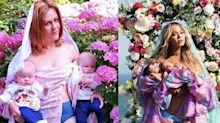 Mütter machen sich über Beyoncés-Zwillingsfoto lustig