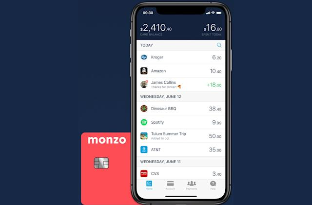 Monzo's app-only banking is coming to the US
