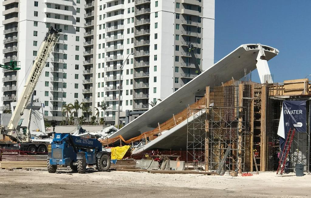 The pedestrian bridge that collapsed in Miami had only been installed over the weekend