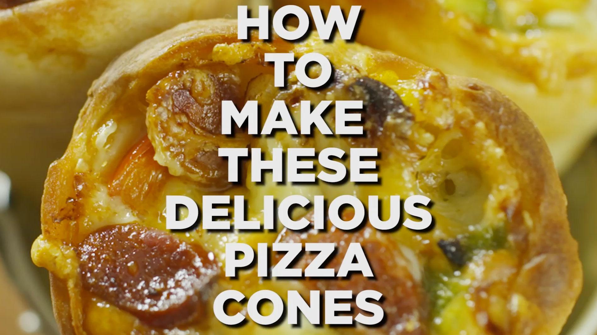 pizza cone how to make