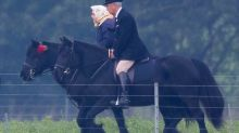 Age is no barrier for the Queen and Duke to ride out at Windsor Castle