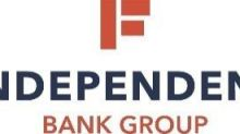 Independent Bank Group, Inc. Reports First Quarter Financial Results and Declares and Increases Quarterly Dividend
