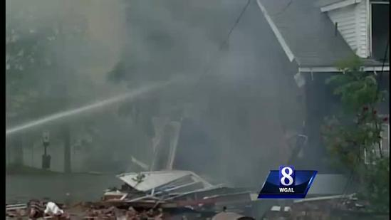 No injuries in home explosion, fire