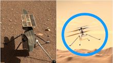 One map and one chart show where NASA's Mars helicopter has traveled in the last 3 months