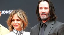 Halle Berry Supports Keanu Reeves at His Hand and Footprint Ceremony at the TCL Chinese Theatre