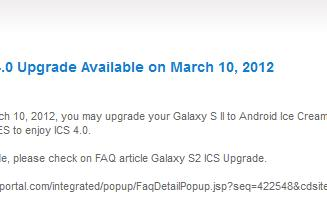 Samsung Galaxy S II (GT-I9100) to get ICS on March 10th (update: recalled)
