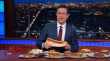 Colbert Serves Bernie Sandwiches on 'Late Show'