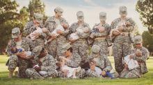 Fotógrafa registra amamentação coletiva e encoraja mães militares