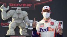 Hamlin sidesteps Truex to win Cup opener at Dover; JGR lands 1-2-3 finish