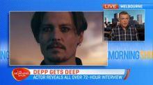 Johnny Depp gets deep