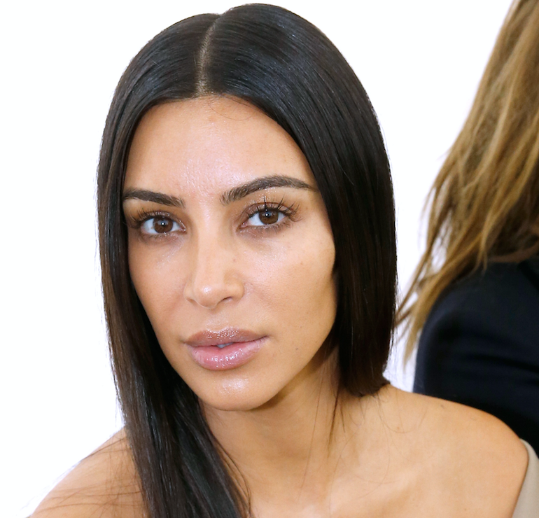 Kim Kardashian Wore No Makeup To Paris Fashion Week