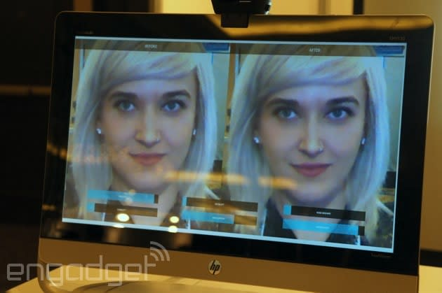 ModiFace uses Kinect to give you a digital nose job
