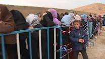 A line of despair as Syrians find refuge in Lebanon