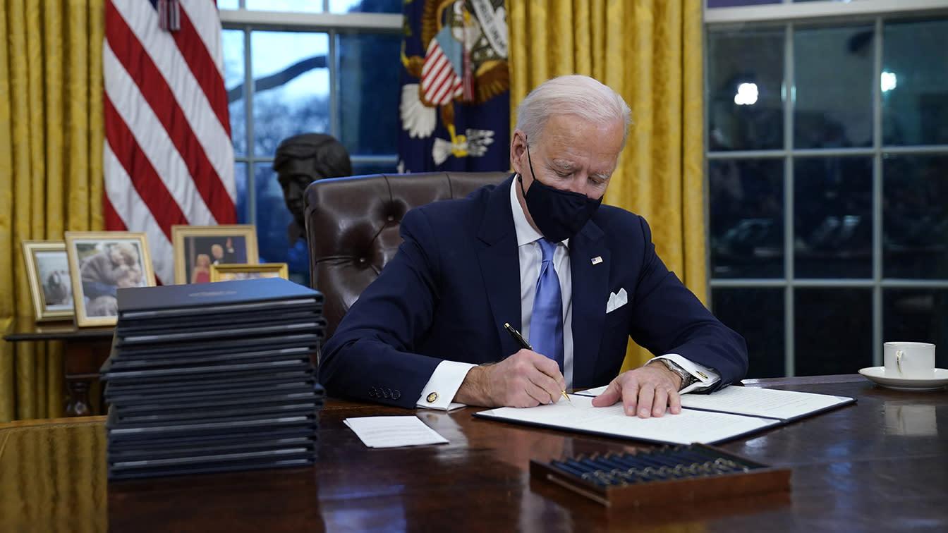 Biden signs executive orders reversing Trump decisions