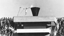 Man born in Hiroshima lights 1964 Tokyo Olympic cauldron