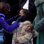 Kamala Harris's grand-nieces pay stylish tribute to new VP: 'Special coats to look just like Auntie's'