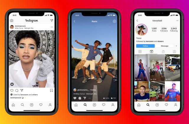 Instagram launches Reels, and tries to beat TikTok at its own game