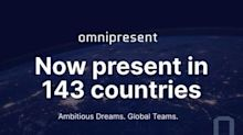 Omnipresent now present in 143 countries around the world, helping companies employ anytime, anywhere