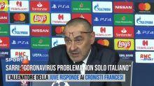 """Sarri: """"Coronavirus problema non solo italiano"""""""