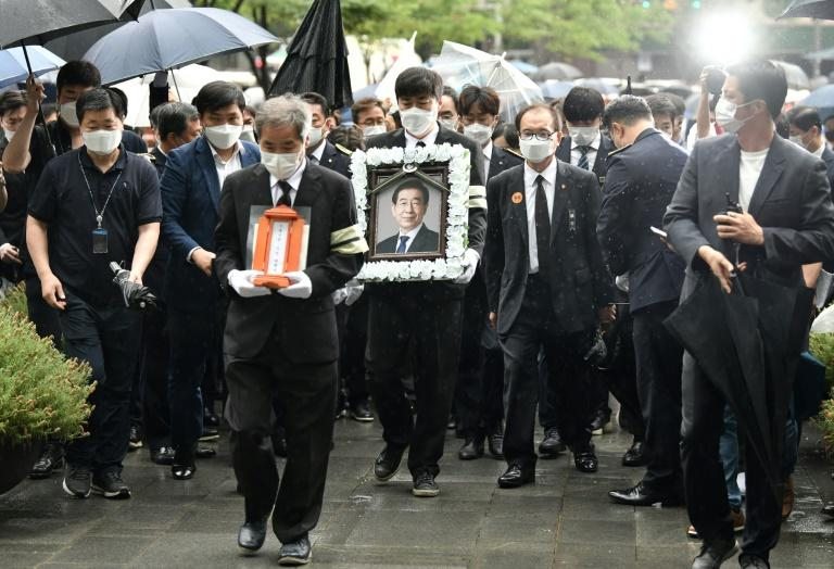 Despite the controversy over his death, the Seoul City government organised a five-day funeral for Park Won-soon (AFP Photo/Jung Yeon-je)