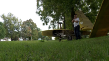 Passerby calls 911 after mistaking Army veteran's Halloween decorations for a real-life plane crash
