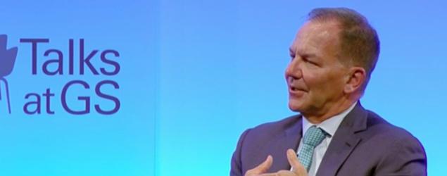 "Paul Tudor Jones spoke with Goldman Sachs CEO Lloyd Blankfein during the firm's ""GS Talks"" series. (Goldman Sachs)"