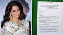 BMC Serves Notice To Kangana For Violating Construction Norms