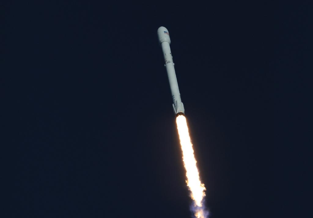 A Spacex Falcon 9, as seen in this NASA photo released in April 2018, will take NASA's new water-monitoring satellites into orbit