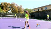 Young Tennis Players Are Taking Lessons From A Real Pro