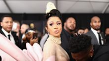 Cardi B's Pearl-Covered Updo for the 2019 Grammys Is a Work of Art