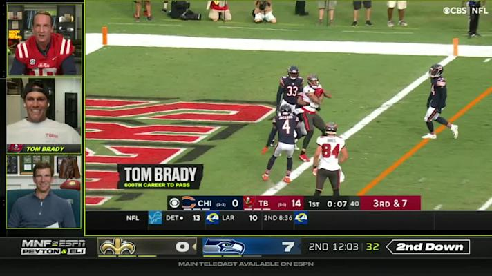 Tom Brady joins Manning bros, talks getting 600th TD ball back