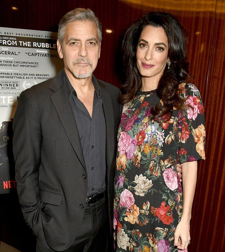 George and Amal Cloone...